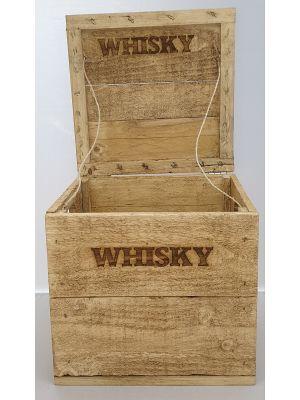 Whisky-Kiste, Holzkiste, Branding, Vintage-Look